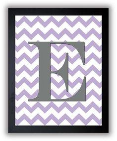 Letter Monogram Print Nursery Art Nursery Baby by KidsNurseryArt