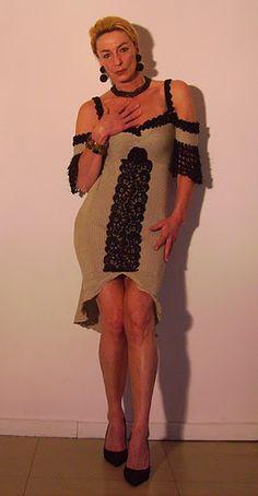 Sexy Kleid Latin Love aus Baumwolle mit schwarzer Spitze