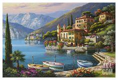 Villa Bella Vista Art Print by Sung Kim at Art.com
