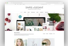 If you are looking for a unique and creative WordPress theme for your next website then you are at the right place. Here is the collection of highly creative WordPress themes which will make your website stand out from the competition. Simple Wordpress Themes, Minimalist Wordpress Themes, Wordpress Theme Design, Web Design Examples, Website Themes, Elegant Homes, Creative, Blog, Awesome Websites
