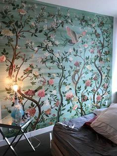 Unique Wallpaper, Home Wallpaper, Bird Wallpaper Bedroom, Wall Murals Bedroom, Removable Wall Murals, Chinoiserie Wallpaper, Unique Wall Art, Little Girl Rooms, House Painting