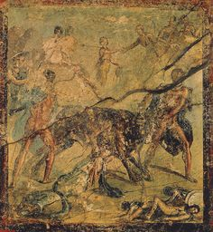 The punishment of Dirce. Fourth style. A.D. 50—79. Pompeii, House of Menander, I 10, 15, room.
