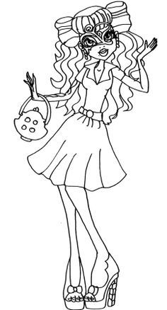 monster high coloring pages catty noir costume | Catty+Noir+Boo+York+Monster+High+Coloring+Page.png 850 ...
