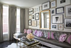 Love the  lilac cushions