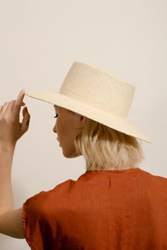 Straw Painter Hat
