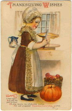 Pumpkin , knife - high resolution image from old book. Thanksgiving Blessings, Thanksgiving Greetings, Vintage Thanksgiving, Thanksgiving Crafts, Vintage Holiday, Thanksgiving Graphics, Thanksgiving Pictures, Vintage Greeting Cards, Vintage Postcards