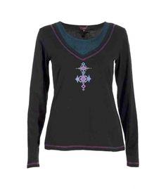Camiseta Combinada - Vestidoshippies - Tu tienda online de moda hippie y alternativa