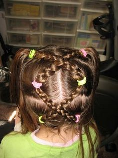 cute little girl hairstyles.... Will need this in a couple years!!