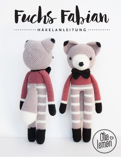 E-Book für Anfänger: Häkelanleitung Fuchs Fabian / crochet pattern fox Fabian for beginners by olialemon via DaWanda.com