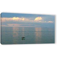 Antonio Raggio 'Calm Kayaks' Gallery-Wrapped Canvas, Size: 26 x 48, Pink
