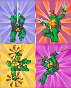 Teenage Mutant Ninja Turtles Art  Video Game Prints by arcadecache