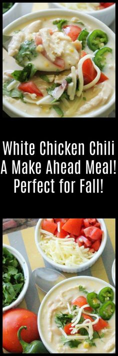 This White Chicken Chili is full of flavor and a great make-ahead meal. Perfect for camping or any get together! #Chili #FallFood #Camping #RVing #RVCooking
