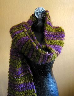 Knitted Scarf Falklands Wool by theresajtoo