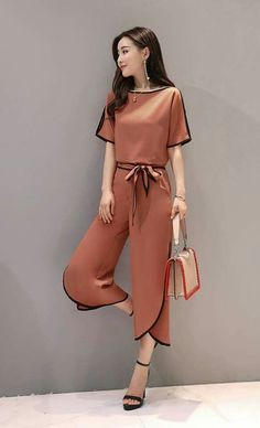 Find Fashion and Vintage Bottoms,Pants,Skirts,Rompers,Jumpsuit on Newchic. Stylish Dresses, Stylish Outfits, Fashion Dresses, Girl Fashion, Womens Fashion, Fashion Design, Outfit Trends, Looks Style, Korean Fashion
