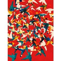 """Color Migration on Red"" art print by COZAMIA (thanks Pearl Liu McKay of Birdhouse Interior Design Consulting for the link)"