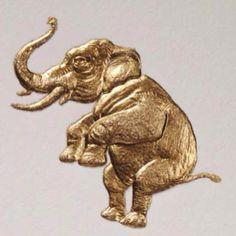 Connor Golden #Elephant #stationery #bespoke #luxury