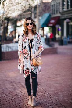 velvet floral kimono | lauren kay sims