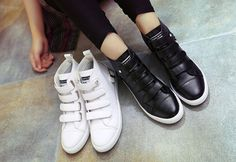 Womens Hidden Heel Sneakers Sports Shoes Buckle High Top Fashion Casual Trainers