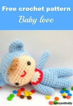 free crochet amigurumi pattern baby love by jennyandteddy
