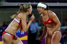 Misty May-Treanor & Kerri Walsh Jennings: Beach Volleyball Results!: Photo Misty May-Treanor and Kerri Walsh Jennings tear up as the national anthem plays during the medal ceremony for Women's Beach Volleyball on Day 12 of the 2012 Summer… Beach Volleyball, Olympic Volleyball, Olympic Gymnastics, Volleyball Team, Soccer, Volleyball Training, Misty May Treanor, Kerri Walsh Jennings, Athletic Women