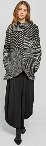 ALEMBIKA PATCHED BLACK AND WHITE JACKET