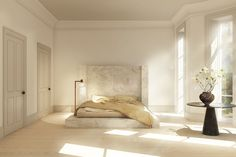 A rendering of a Rick Owens alabaster bed