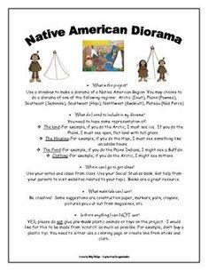 Native American Diorama Project