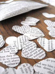 Wedding confetti - recycled Shakespeare £3.95