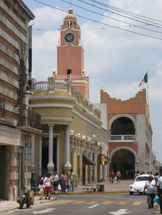 Merida, Mexico.  Pretty city, lots of diverse activity and busy with people.  We were there on Valentines day in 2010 - lots of weddings in the lots of churches.