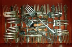 ESTATE STERLING SILVER TOWLE FONTANA SALAD FORK LOT OF 21-925 1957 FREE US SHIP #Towle #Towle