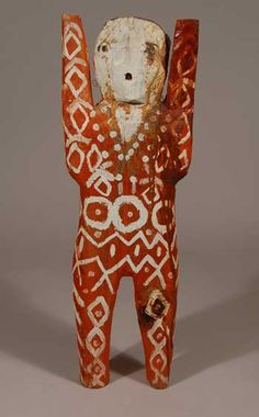 Untitled wood figurine by  Navajo medicine man & folk artist Charlie (Alfred) Willeto (1897-1964). via Native American Cultural Arts