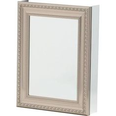 H Framed Recessed Or Surface Mount Bathroom Medicine Cabinet With Deco Door In Brushed Nickel