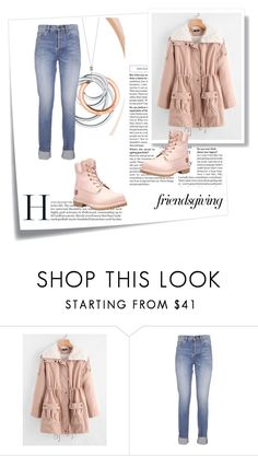 """Winter Outfitt"" by nermina-okanovic ❤ liked on Polyvore featuring Post-It, Yves Saint Laurent, Timberland and Tiffany & Co."