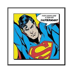 Art.com Looks Like a Job for Superman Framed Art Print, Blue ($115) ❤ liked on Polyvore featuring home, home decor, wall art, blue, blue home accessories, framed wall art, blue home decor, handmade home decor and comic book wall art