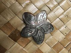 Mother of Pearl Blacklip Pretty Plumeria Flower Shell