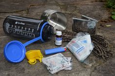 Survival Gear: Water Bottle Survival Kit - BY TIM MACWELCH - 06/24/2015 - A bottle of water can be a valuable commodity to a thirsty person, but it's not just the water that has worth; the bottle itself can serve many purposes. One of the best uses is as a container for a survival kit. Whether you choose a plastic or metal bottle, here are some items to toss inside.