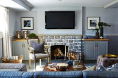Looking for Living Space and Media Room ideas? Browse Living Space and Media Room images for decor, layout, furniture, and storage inspiration from HGTV. Cozy Basement, Game Room Basement, Modern Basement, Basement Makeover, Basement Ideas, Sarah Richardson, Modern Rustic Decor, Condo Living, Living Room