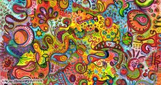 Colorful Detailed Abstract Art by Thaneeya McArdle