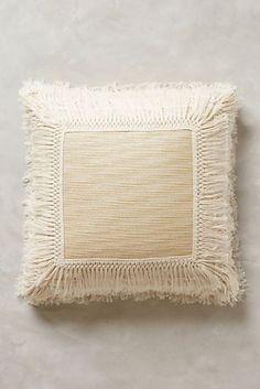 Fringed Ivory Pillow 2