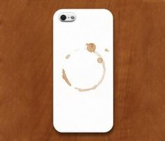 Coffee Stain iPhone Case....the guy (or woman) who invented this is a genius!! Do people really buy this? LIGHT BULB ;)