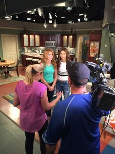 Bella Thorn On Set Of KC Undercover