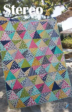 Today Ive got details and outtake photos of Stereo quilt for you! Quilt Details Fabric is Color...