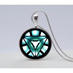Iron Man Arc Reactor Necklace Avengers Necklace- Iron Man symbol... ($9.95) ❤ liked on Polyvore featuring jewelry and necklaces