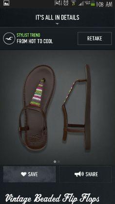 ... girls vintage hollister sandals flip flops beads flip vintage beads
