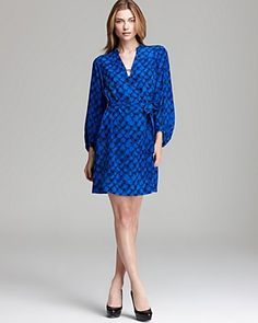 DIANE von FURSTENBERG Dress - Tanyana Clean Silk | Bloomingdale's