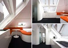 Micro apartamentos de treinta metros cuadrados y con techos abuhardillados