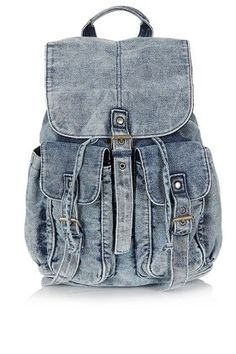 Six Denim DIYs That Can Turn Disastrous - Railroad Denim Backback, $60, us.topshop.com