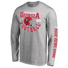 6506aa7ae500 Georgia Bulldogs Fanatics Branded College Football Playoff 2018 Rose Bowl  Bound Down Long Sleeve T-Shirt – Heathered Gray - Fanatics.com