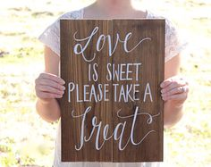 Popcorn Bar Sign Wedding Favor Sign Rustic by ThePaperWalrus