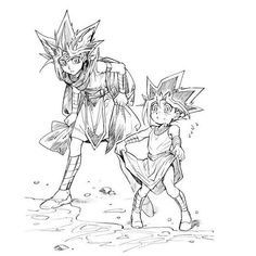 Atem and Yugi from #YuGiOh